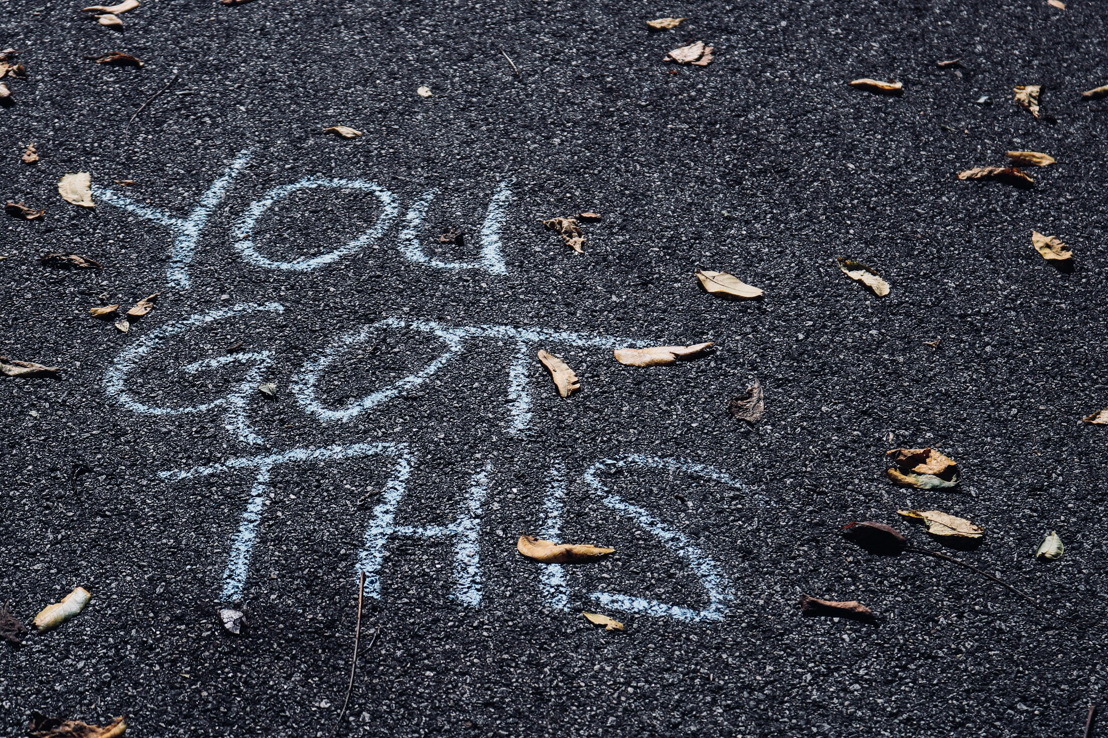Dealing with Bored Kids: You Got This sidewalk chalk sign