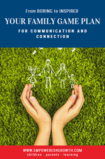 The cover of The Family Game Plan for Communication and Connection. From Boring to Inspired.